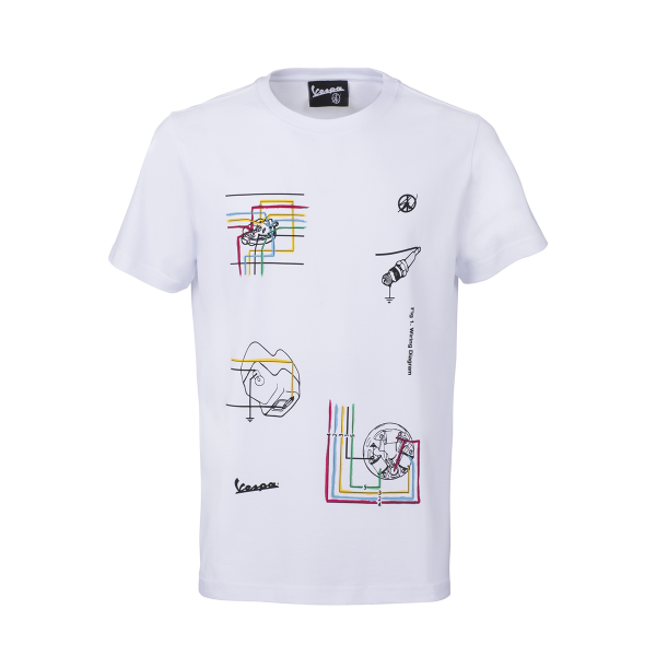 Sean Wotherspoon x Vespa T-Shirt Grafica