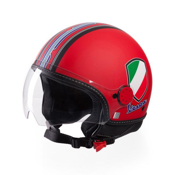 Jet-Helm Vespa V-Stripes rot Gr.M