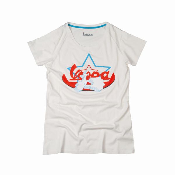T-Shirt Vespa weiss w S