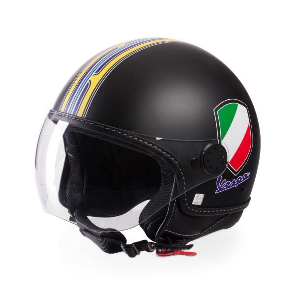 Jet-Helm Vespa V-Stripes schwarz Gr.M