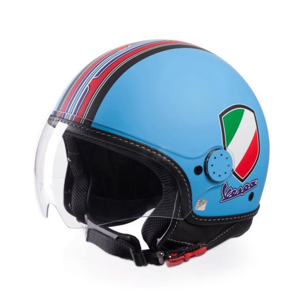 Jet-Helm Vespa V-Stripes hellblau Gr.M