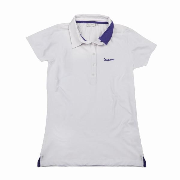 "Poloshirt VESPA Damen ""VESPA LOGO"" weiß Gr.S"
