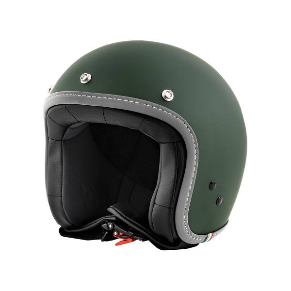 "Jet-Helm Vespa ""COLOR"" matt-dunkelgrün Gr.XL"