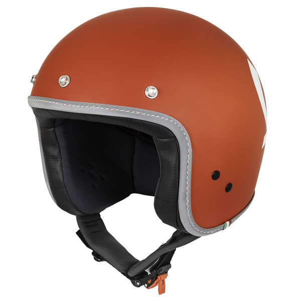 """Jet-Helm Vespa """"COLOR"""" matt-nuclear red Gr.S"""