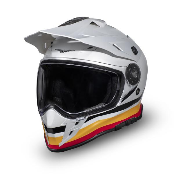 Helm Adven.V85TT weiss/gelb XL