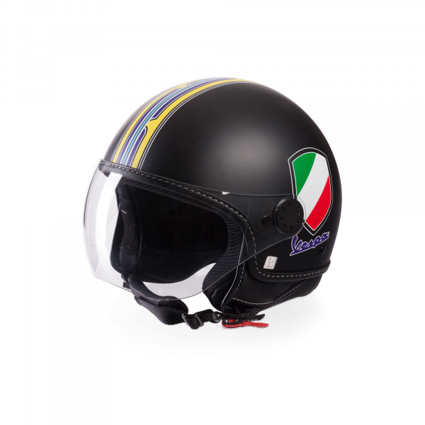 Jet-Helm Vespa V-Stripes schwarz Gr.XS
