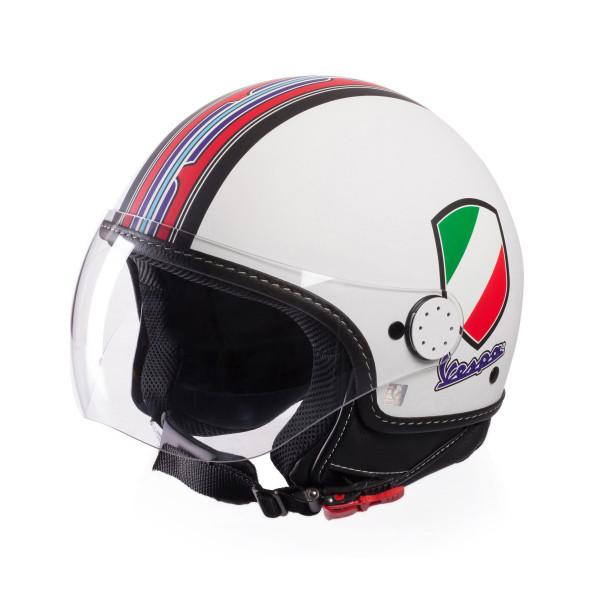 Jet-Helm Vespa V-Stripes weiß Gr.L