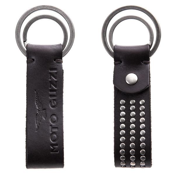 Schlüsselanhänger MOTO GUZZI Leder, dunkelbraun