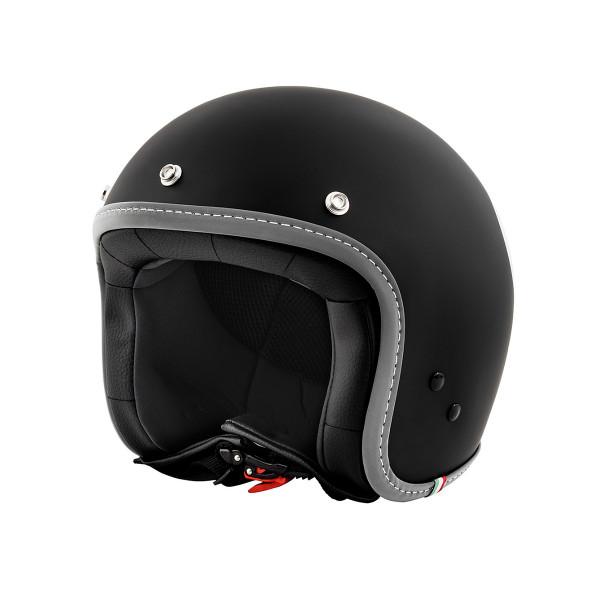 """Jet-Helm Vespa """"COLOR"""" matt-schwarz Gr.S"""