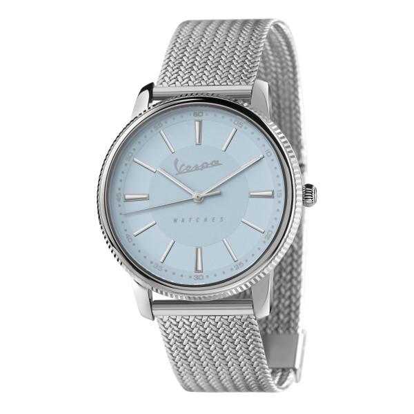 VESPA Uhr - Heritage silber/hellblau mit Edelstahlarmband