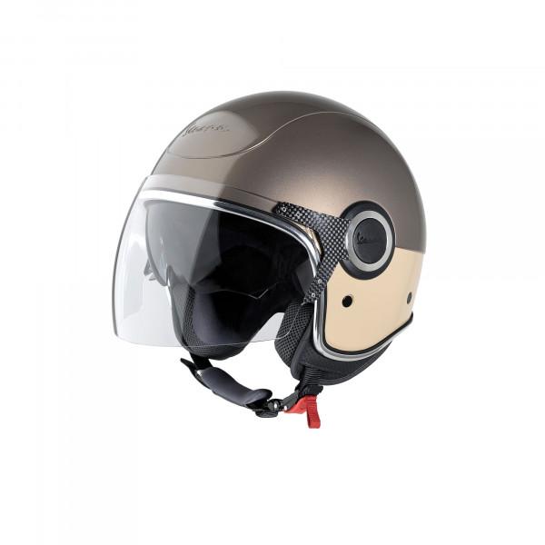 """Jet-Helm Vespa """"VJ"""" marrone/beige Gr.M"""