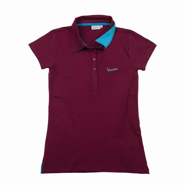 """Poloshirt VESPA Damen """"VESPA LOGO"""" bordeux Gr.XL"""