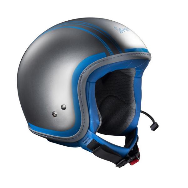Jet-Helm Vespa Elettrica (inkl.Bluetooth-System) Grau/Hellblau Gr.L