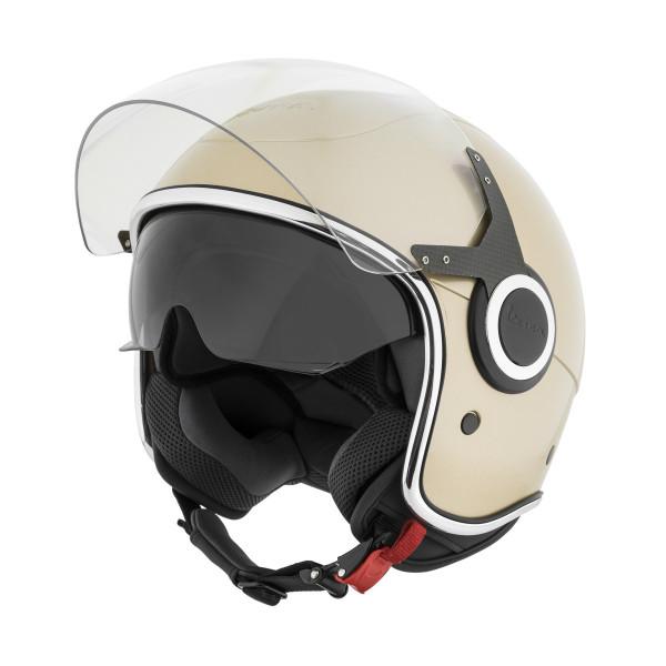 """Jet-Helm Vespa """"VJ"""" beige eleganza 513/A Gr.M"""
