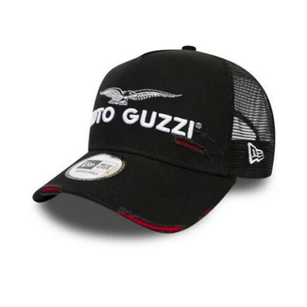 Kappe Moto Guzzi A-Frame Trucker Black Worn Look