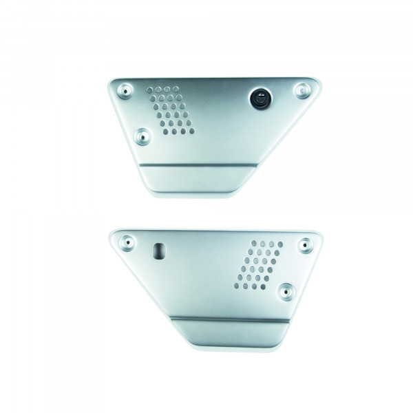 Seitendeckelset V7 III / V9 ab Bj.2017- Aluminium silber